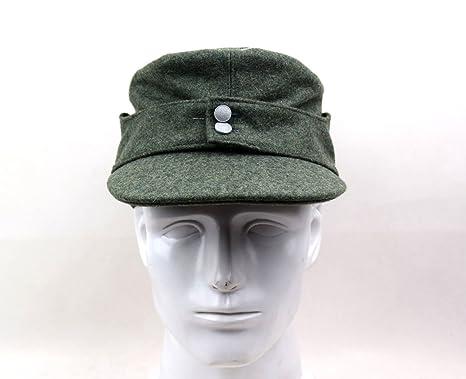 81d234b5 Replica WWII German Officer M43 WH EM field Panzer Wool Cap Hat Green (M(