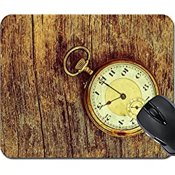 MSD Mousepad Mouse Pads/Mat design 27188021 old clock vintage picture in wood background