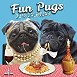 Fun Pugs 2018 Pug Wall Calendar        Using our mischievous pet dogs, we have created this entertaining and exciting 2018 Pug Calendar.        This 12-month calendar includes 12 brilliant images and a large grid planner including all ...