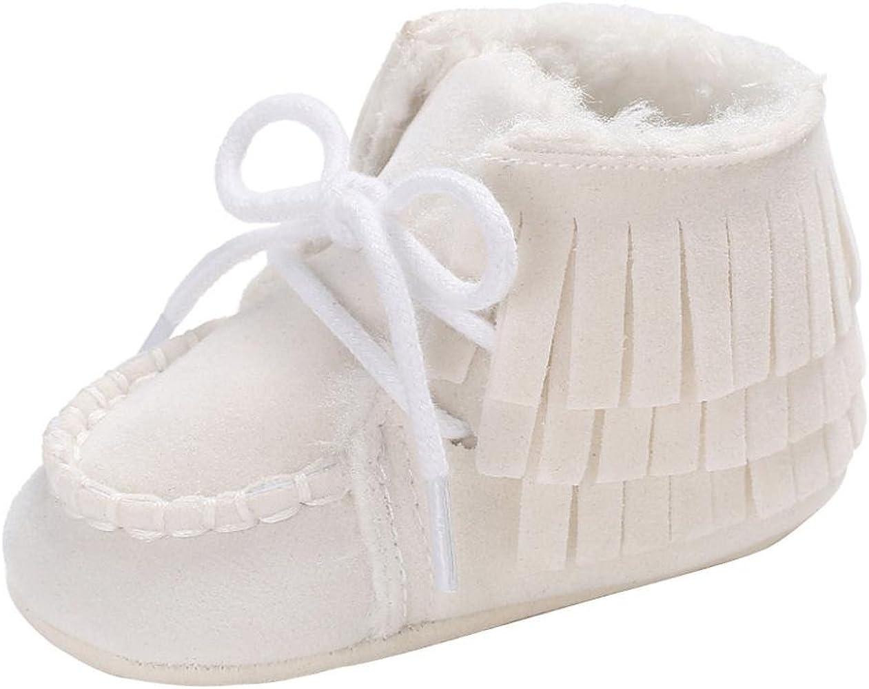 70f7bec2af29a0 Longra Bébé Fille Garçon Chaussures Premiers Pas Hiver Ultra Épais Chaud  Doux Bottines Chaussure pour Enfant
