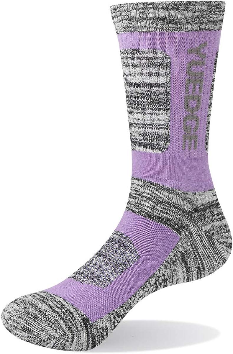 5 Pairs//Pack YUEDGE Women Moisture Wicking Cotton Cushion Casual Work Crew Socks Performance Athletic Hiking Socks