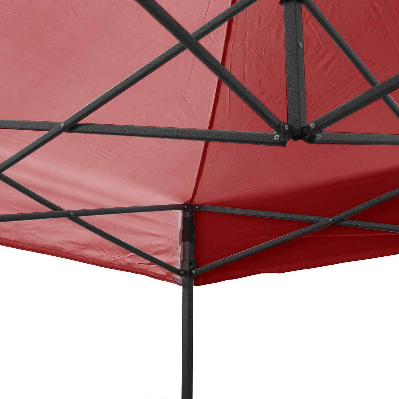 AirWave Essential Colore: Rosso Gazebo Pop-up con Lati Laterali 2 x 2 m