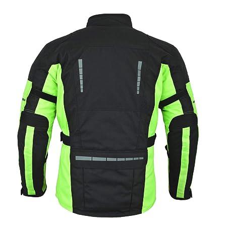 Rot//Schwarz Herren Cordura Belüftet Ce Protektoren Motorrad Textil Hose
