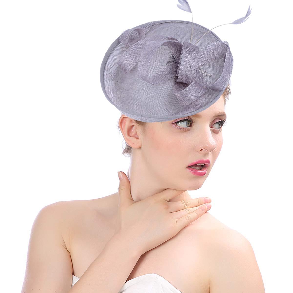 DORRISO Mujer Clip de Pelo Sombrero Flor para Boda Fiesta Decoración  CP-AL002 624ad14c28dc