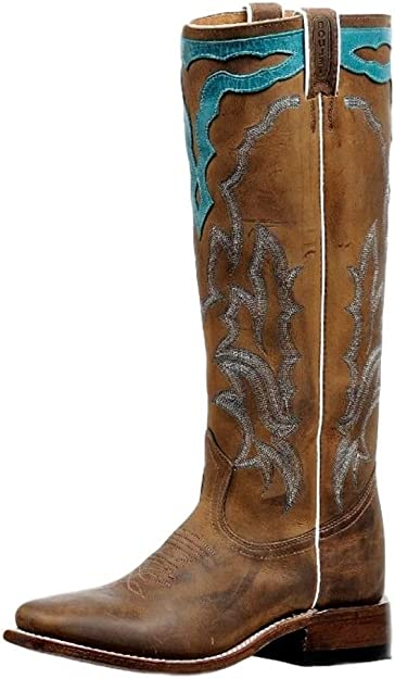 Cowboy Tall Western Boot Square Toe   Boots