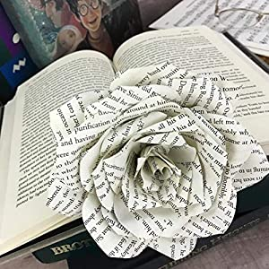 Paper Book Page Rose 6