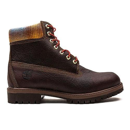 Timberland 6 IN PREM BT 9640B, botines hombre, (Marrón y azul), 42: Amazon.es: Zapatos y complementos