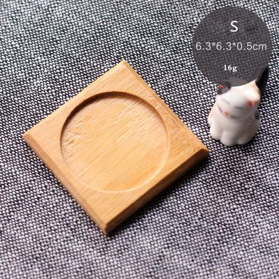 Best Quality - Pot Trays - Bamboo Round Square Bowls Plates for Succulents Pots Trays Base Garden Decor Home Decoration Crafts - by SeedWorld - 1 PCs from SeedWorld