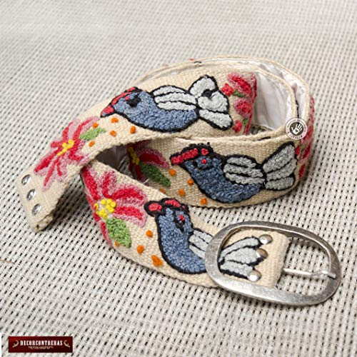 Embroidered Belts for Women S,M,L,XL- Womens Belts, Embroidered belt from Peru, Colorful Floral Wool Belts, hand-woven wool Peruvian belts