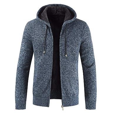 UOMO MAGLIA MAGLIONE Cardigan Cappotto Caldo Inverno