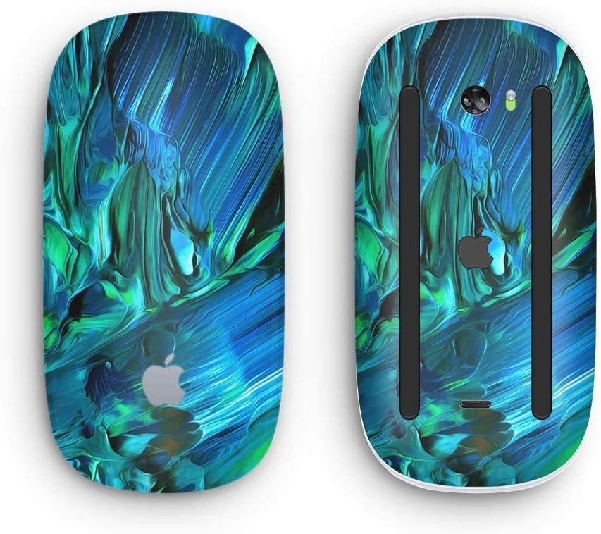 with Multi-Touch Surface Wireless, Rechargable Design Skinz Premium Vinyl Decal for The Apple Magic Mouse 2 Blurred Abstract Flow V8