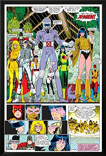 X-Men Annual No.10 Group: Warlock, Sunspot, Cannonball, Cypher, Magma, Magik and New Mutants Lamina Framed Poster - 37.75 x (Cypher Xmen)