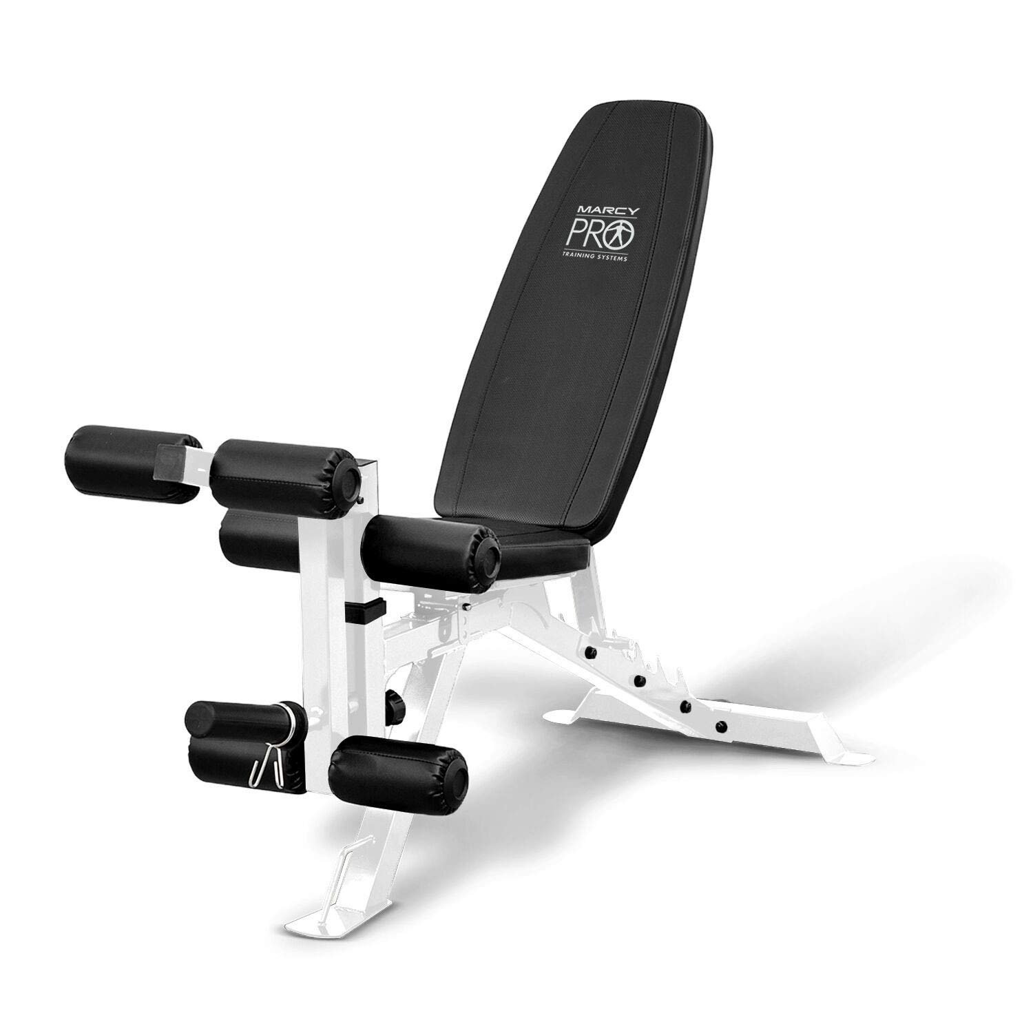 Marcy Impex PM-5788 FID Powder Coated Steel Home Gym Adjustable Weight Bench, White