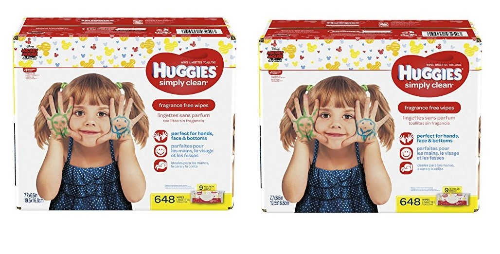 Amazon.com : Huggies Simply Clean Unscented Baby Wipes, 9 Flip Top Packs, 648 Count Total (2 X 648 WIPES) : Baby