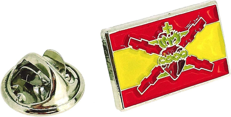 Pin de solapa de la Bandera Sagrado Corazon con Cruz de San Andres: Amazon.es: Ropa y accesorios