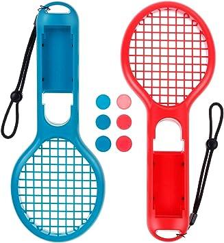 Tebookonline – Raqueta de Tenis Nintendo Switch Mario Tennis Aces Juegos para Mando Joy-con Nintendo Switch y 6 mandos Stick: Amazon.es: Electrónica