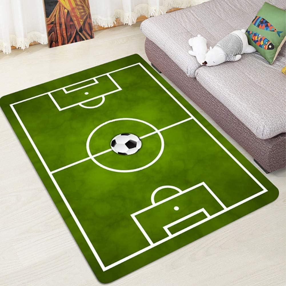FANHUA Rectangular Soft Living Room Bathroom Mat Children Play Carpet Bedroom Slip Football Field Home Decoration Printed Carpet Color : B, Size : 40x60cm