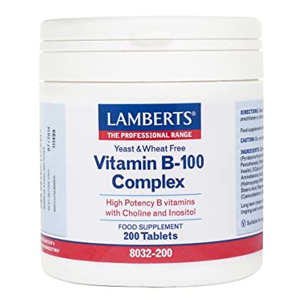 Lamberts Vitamin B-100 Complex, 200 tabletas