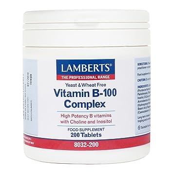 Lamberts Vitamin B-100 Complex, 200 tabletas: Amazon.es: Salud y cuidado personal
