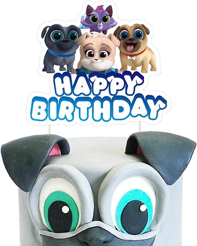 12 Disneys BOLT Birthday Party Supplies CUPCAKE TOPPERS Picks Dog
