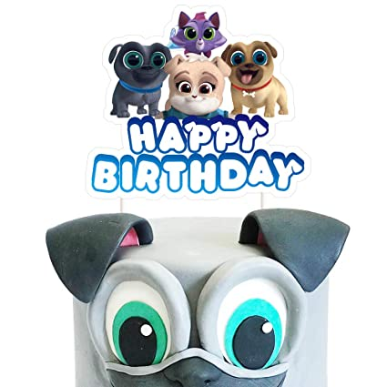 Cool Puppy Dog Pals Cake Toppers Cute Birthday Cake Decorations Pal Personalised Birthday Cards Cominlily Jamesorg