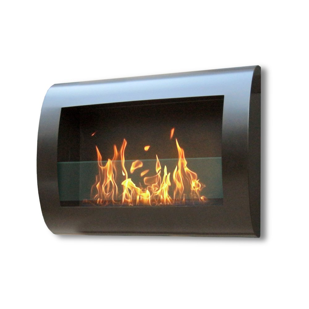 Amazon.com: Anywhere Fireplace - Chelsea Model in Black - Wall ...