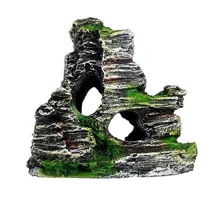 housesweet - Adorno para Acuario, decoración de montaña, Acuario, Paisaje, Roca,