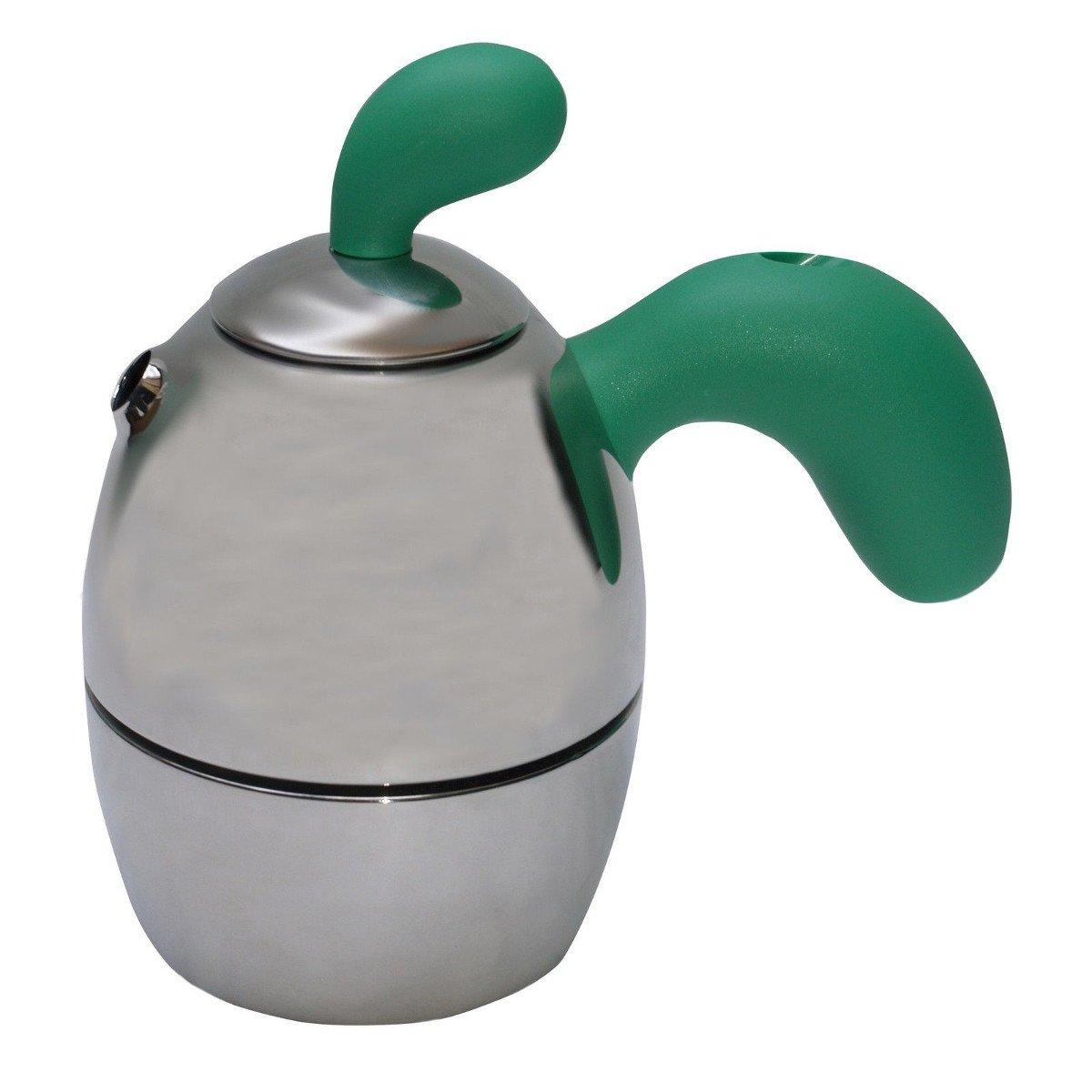 Alessi Cafetera de Acero Inoxidable con Mango y Pomolo Verde ...