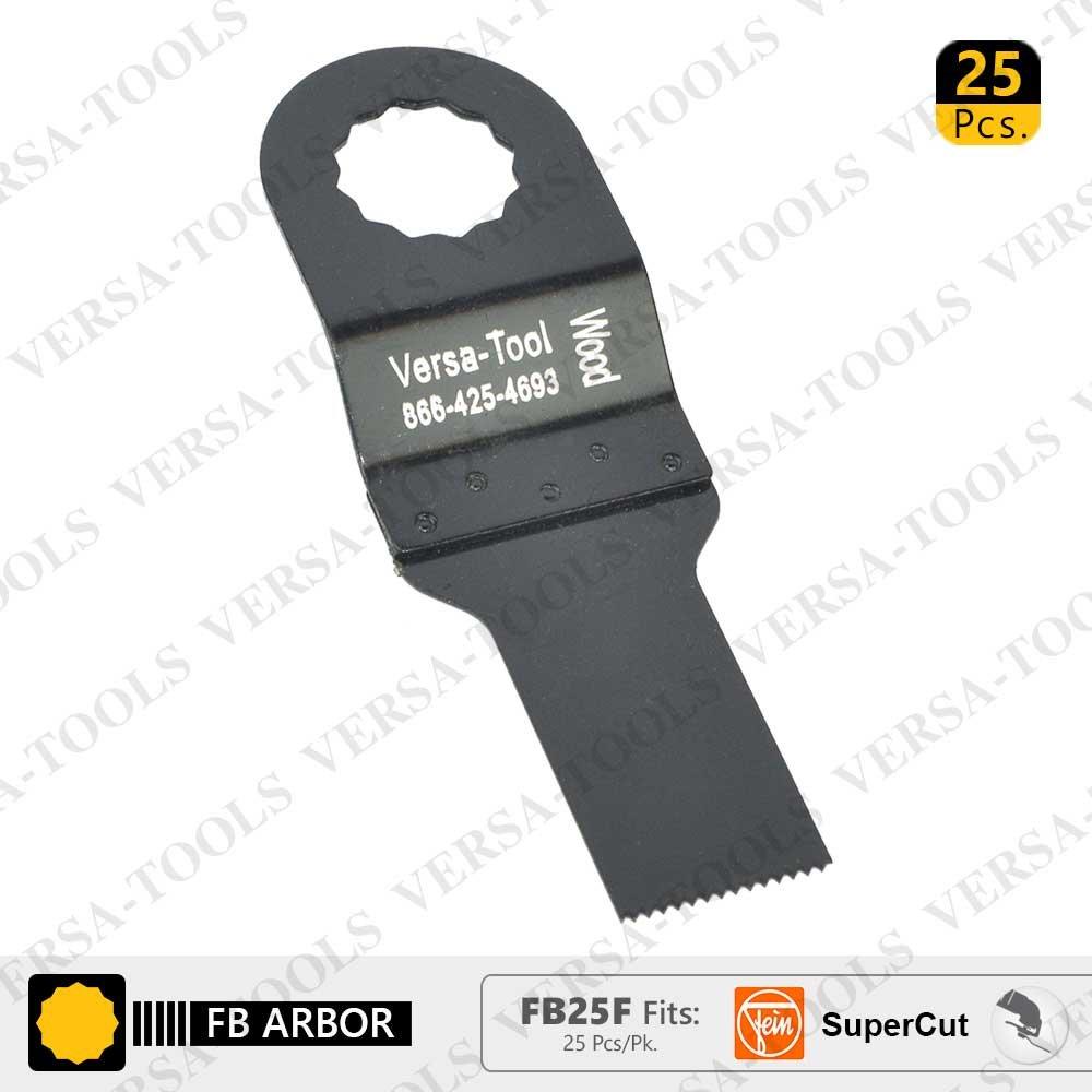 Versa Tool FB25F 20mm Stainless Steel Multi-Tool Saw Blades 25/Pack Fits Fein Supercut Oscillating Tools