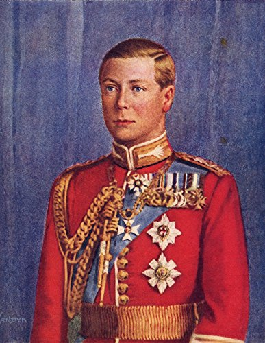 Posterazzi 1894 to 1972 United Kingdom and Emperor of India from His Majesty King Edward VIII Published 1936 Poster Print, (12 x 16)