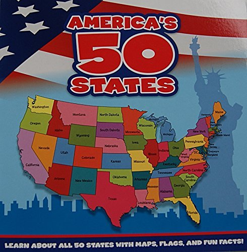 America's 50 States Book: Learn About All 50 States with Maps, Flags, and Fun Facts!