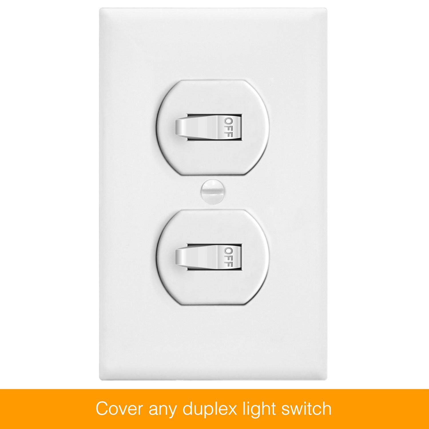 ENERLITES Duplex Receptacle Outlet Wall Plate, Size 1-Gang 4.50'' x 2.76'', Polycarbonate Thermoplastic, 8821-W-10PCS, White (10 Pack) by ENERLITES (Image #4)