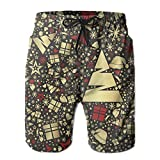 NGFF Holiday Christmas Tree Santa Claus Hat Summer Casual Style Adjustable Beach Home Sport Shorts