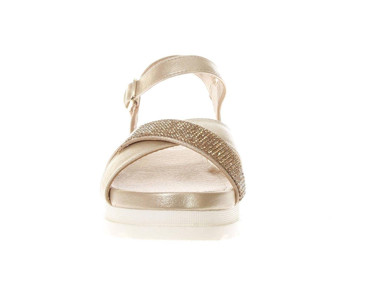 LIU-JO GIRL L3A2 00392 0092514.Sandalo Fasce Incrociate con Strass.Platino.40   Amazon.it  Scarpe e borse 163a602eae1