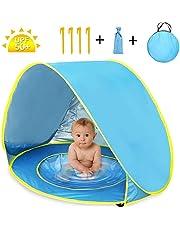 YARD Tienda Playa Bebe, Tienda de campaña para niños Pop-up con Piscina de bebé Plegable automático con protección Solar de protección UV 50 ,Vacaciones en la Playa al Aire Libre
