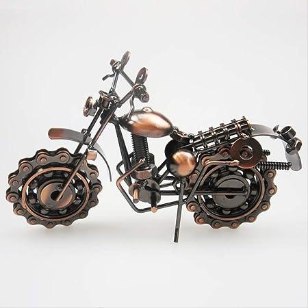 LKXZYX Decorativos Figuras Salon candelabros de Jardin Exterior Miniatura, Adornos de Hierro Artesanías de Metal Decoración del hogar Antiguo Modelo de Motocicleta: Amazon.es: Hogar