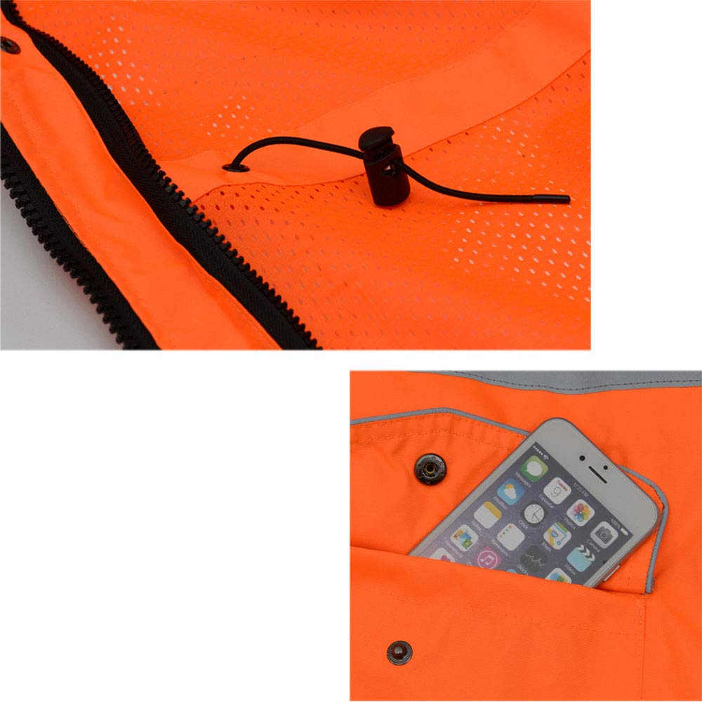 MING REN Reflective Clothing-reflective Cotton Clothing Sanitation Labor Insurance Overalls Highway Traffic Safety Clothing Fluorescent Outside Suit Road Maintenance Cotton Jacket Mens Coat Protectiv
