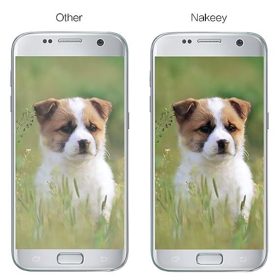 Galaxy S7 Protector de Pantalla, Nakeey Cristal templado Galaxy S7 Protector de pantalla de Ultra HD Claro Protector de Pantalla para Samsung Galaxy S7: ...
