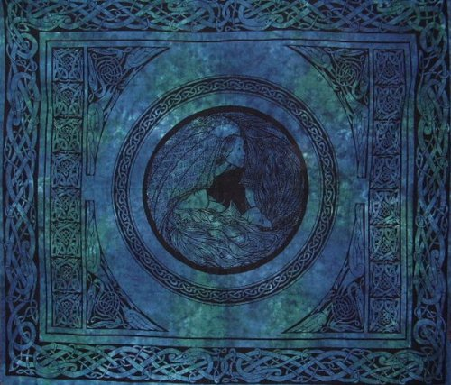 Maiden Mother Crone Celtic Goddess Tapestry Cotton Spread 90