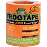 FrogTape Pro Grade Orange Painter's Tape, Each Roll 1.41 in. x 60 yd, 4-Pack