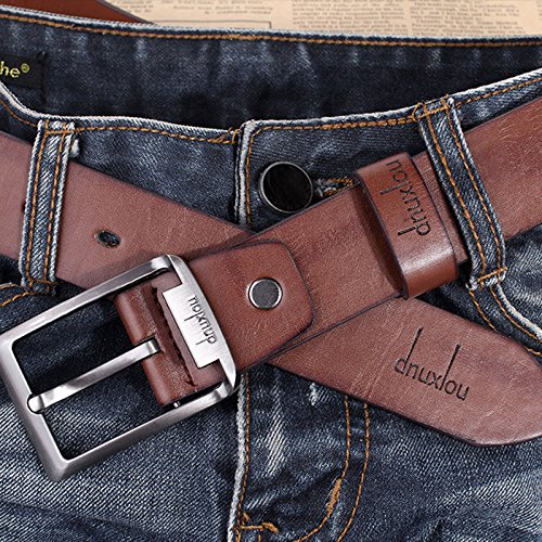 Men's Waistband Leather Belts Trousers Pin Buckle Waist Strap Fashion, 100% brand new &(Brown) (Hilfiger Tommy Vans Men)