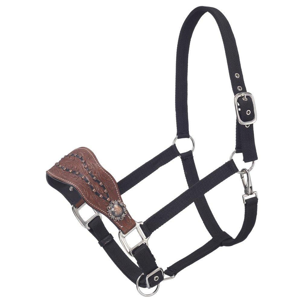 50-7768-33-0 Tough 1 Cooper Belt Buckle Bling Nylon Bronc Halter Med Oil Plain JT International Inc
