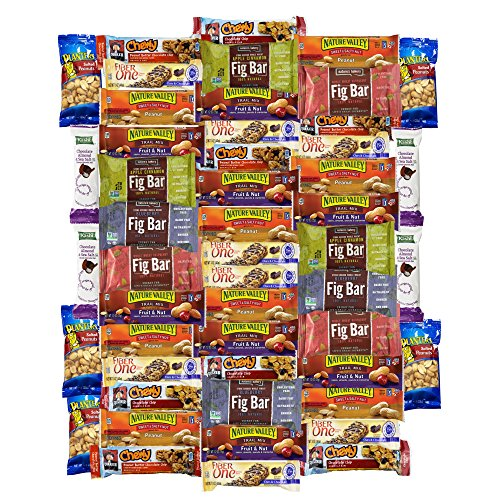 Ultimate Healthy Bar & Office Snacks Gift Variety Pack Bulk Sampler (Care Package 50 Count)