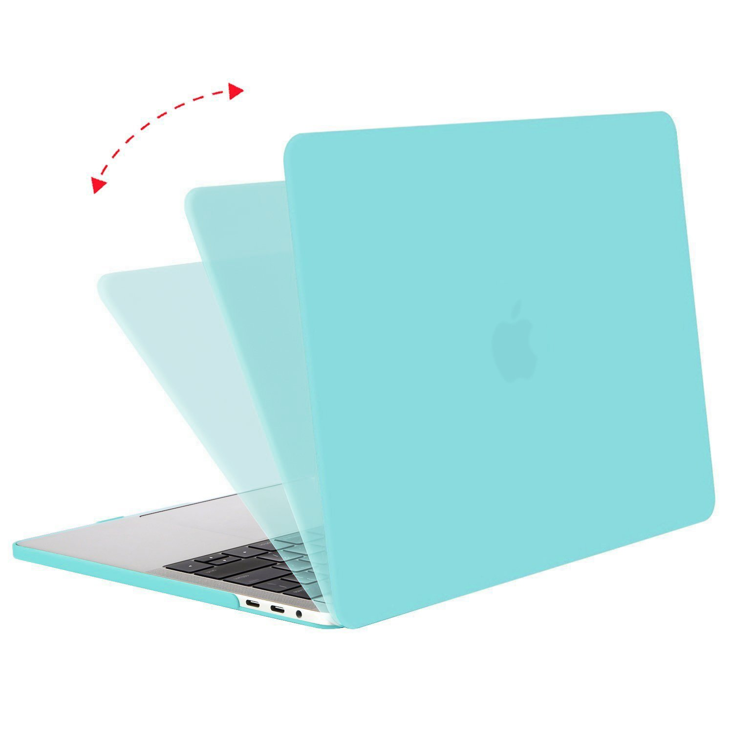 Mosiso MacBook Pro 15 Case 2018 2017 2016 Release A1990/A1707 , Plastic Hard Shell with Keyboard Cover with Screen Protector with Storage Bag for Newest MacBook Pro 15 Inch with Touch Bar, Crystal Clear