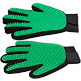 Pet Grooming Glove Dog hair Remover Gentle Petting Glove Brush Massage Tools With Enhanced Bathing Glove For Cats Dogs Long & Short Fur One Pair