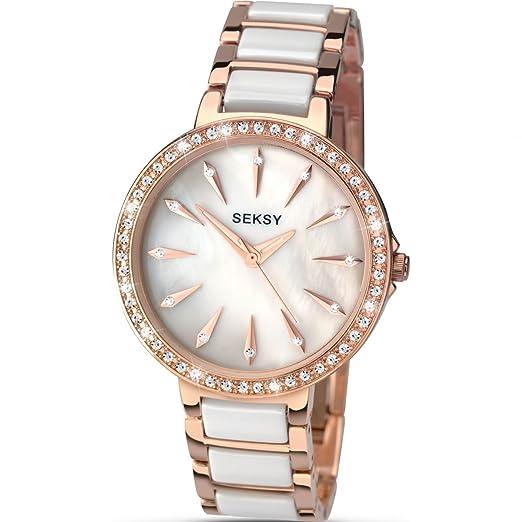 19bd019b18ac Sekonda Women s Analogue Quartz Watch with Mixed Strap 2220.37   Amazon.co.uk  Watches
