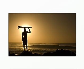 BERGER DESIGNS - Leinwandbild xxl günstig & modern (Surfer-70x110cm ...