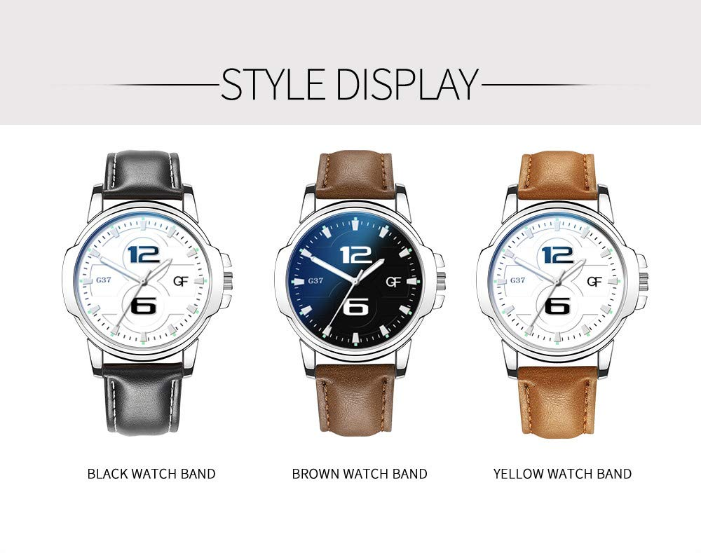 Amazon.com : XBKPLO Quartz Watches Mens Analog Wrist Watch Pointer Light Personality Number Leather Band Temperament Strap Watch Jewelry Gift : Pet ...