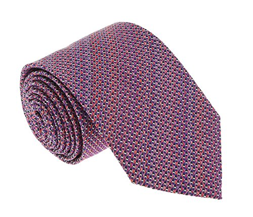 Missoni U4313 Pink/Red Basketweave 100% Silk Tie for - Basketweave Tie