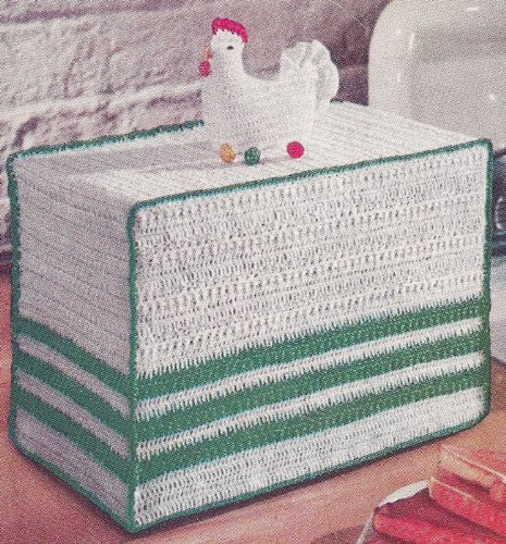 Cover Crochet Pattern - Vintage Crochet PATTERN to make - Chicken Motif Toaster Cover. NOT a finished item. This is a pattern and/or instructions to make the item only.
